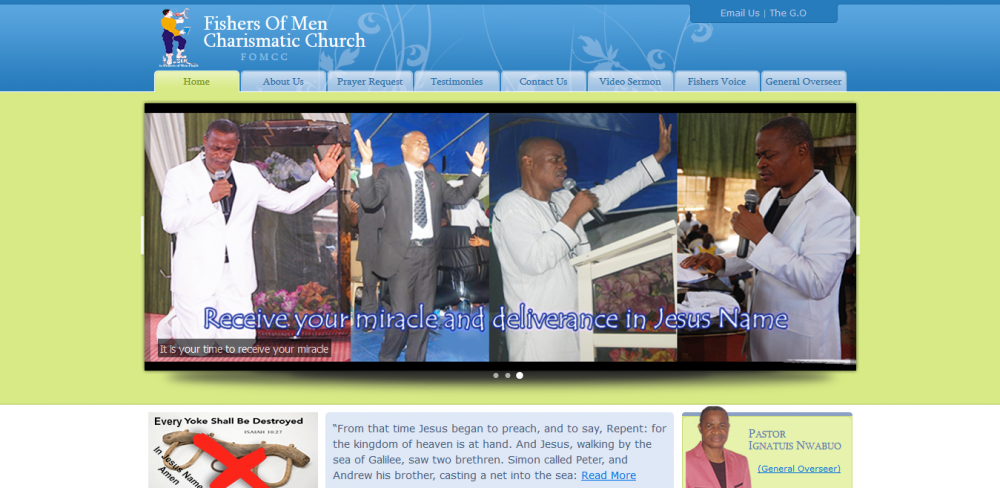 The Fishers of Men Charismatic Church Website