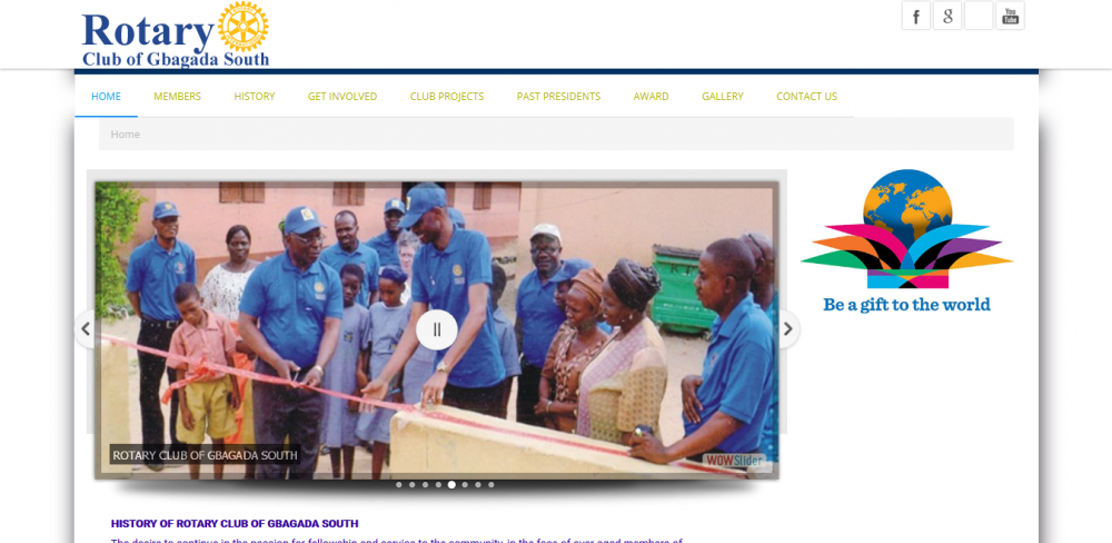 Rotary Club Website In Lagos