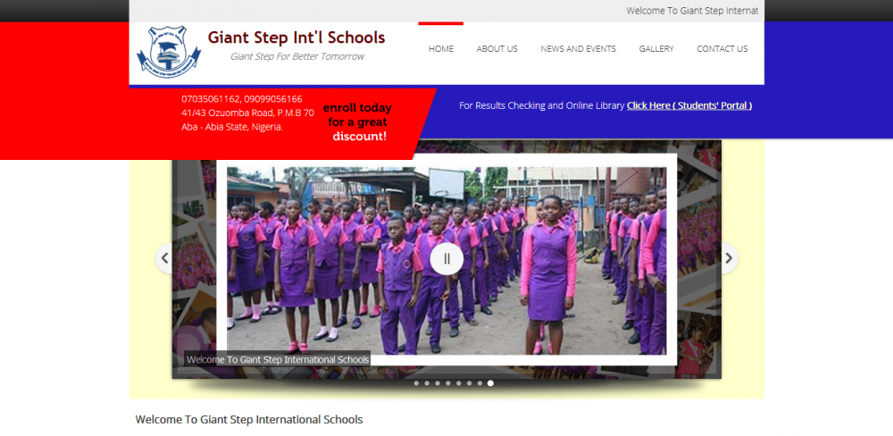 Giant Step Int'l Schools Website
